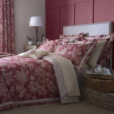 Dorma Red Samira Bed Linen Collection | Dunelm