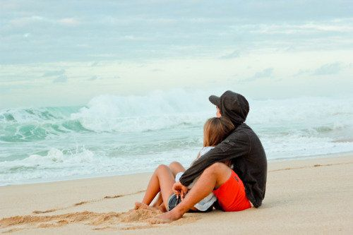 See, now I want to sit on the beach like this with my husband and just watch the waves hit the shore...I miss these days.