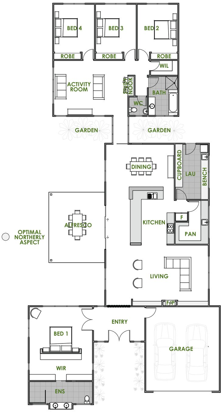 The Hydra offers the very best in energy efficient home design from Green Homes Australia. Take a look at the floor plan here.