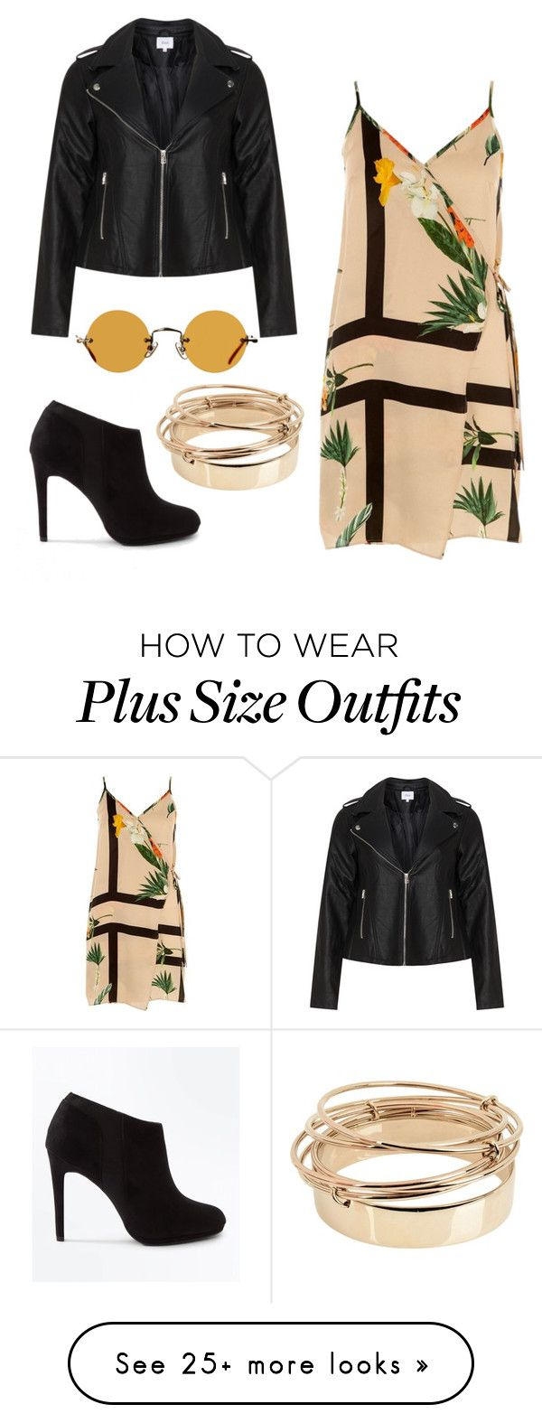 """""""Untitled #85"""" by ashleigh-oxley on Polyvore featuring Zizzi, River Island, New Look, Hakusan and Valentino"""