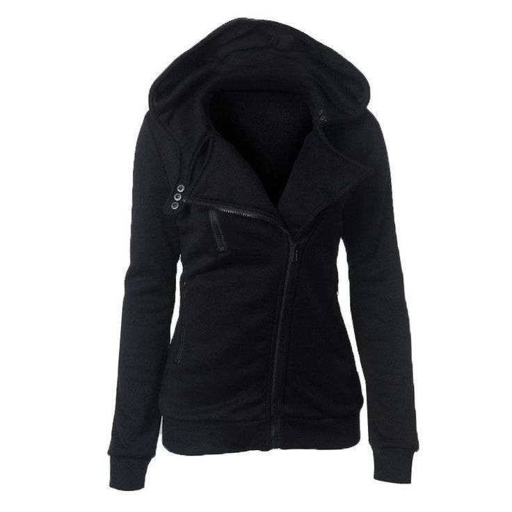 2016 Best Selling Spring Autumn Lady Fleece Zipper Hooded Thicken hoodies Sweatshirt Tops Plus Size XXL 9 Colors