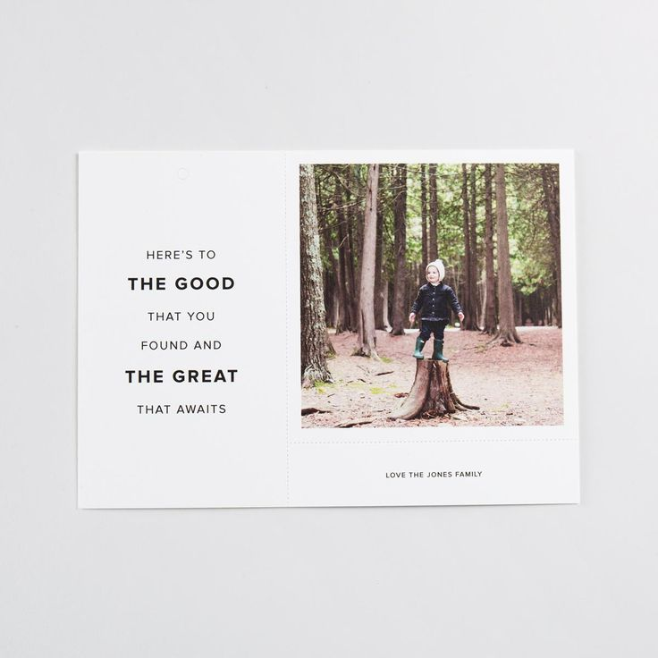 3-IN-1 CARD Reinvent your holiday photo card. The 3-in-1 card is a greeting card, a photo print and a gift tag - all in one. With perforated seams, this card can be repurposed by recipients.