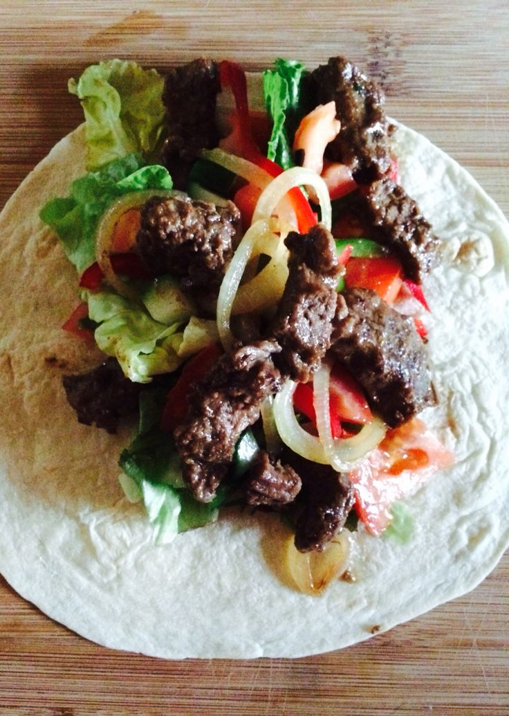 Beef wrap!