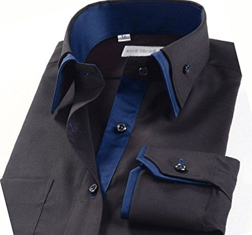 This is nice mens casual double collar slim fit for Nice shirts for men