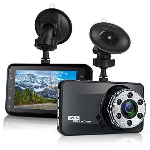 "Dash Cam Bekhic Dash Camera for Cars with Full HD 1080P 170 Degree Super Wide Angle Cameras 3.0"" TFT Display G-Sensor Night Vision WDR Loop Recording"
