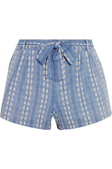 Splendid - Cotton-jacquard Shorts - Blue - x large