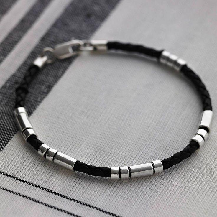 Personalised Mens Morse Code Bracelet