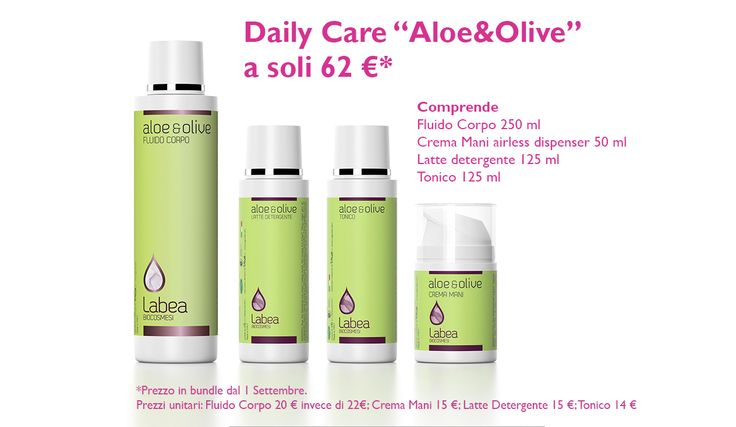 Aloe&Olive Daily Care: a Settembre, scegli la bellezza bio!
