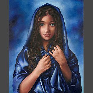 Just one of the many incredible paintings of Akiane, who is a child prodigy.