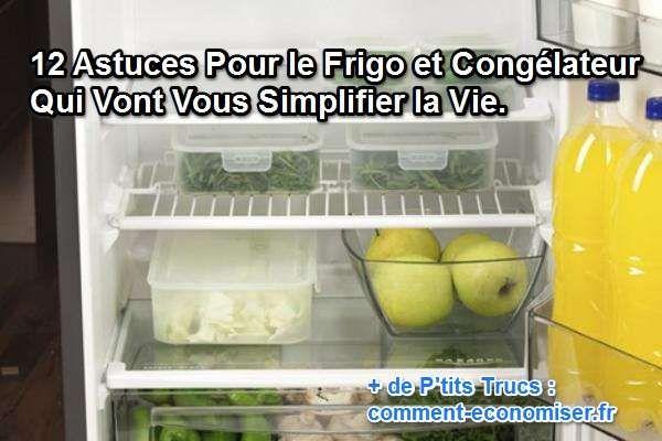 Quand on a une famille, ce n'est pas toujours facile d'avoir un frigo toujours bien rangé. Heureusement, nous avons sélectionné pour vous 12 astuces pour frigo et congélateur qui vont vous simplifier la vie.  Découvrez l'astuce ici : http://www.comment-economiser.fr/12-astuces-pour-frigo-congelateur-qui-simplifient-la-vie.html?utm_content=buffer300e8&utm_medium=social&utm_source=pinterest.com&utm_campaign=buffer