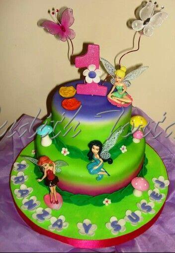 Torta Decorada Con Fondant Quot Campanita Quot Tortas Infantiles
