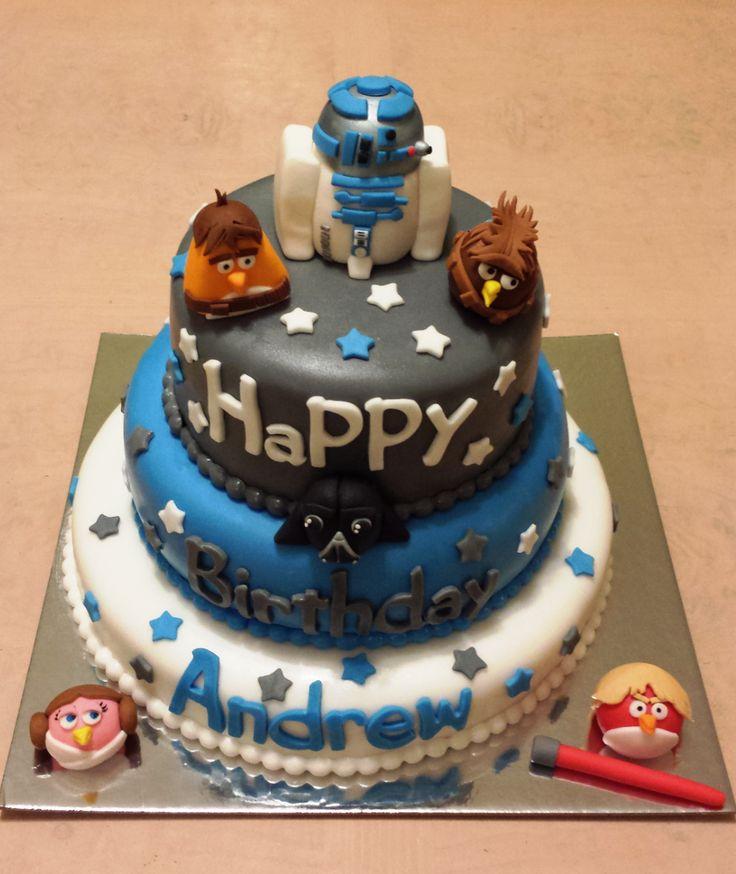 Angry Bird Star Wars cake www.cakesalmakes.com
