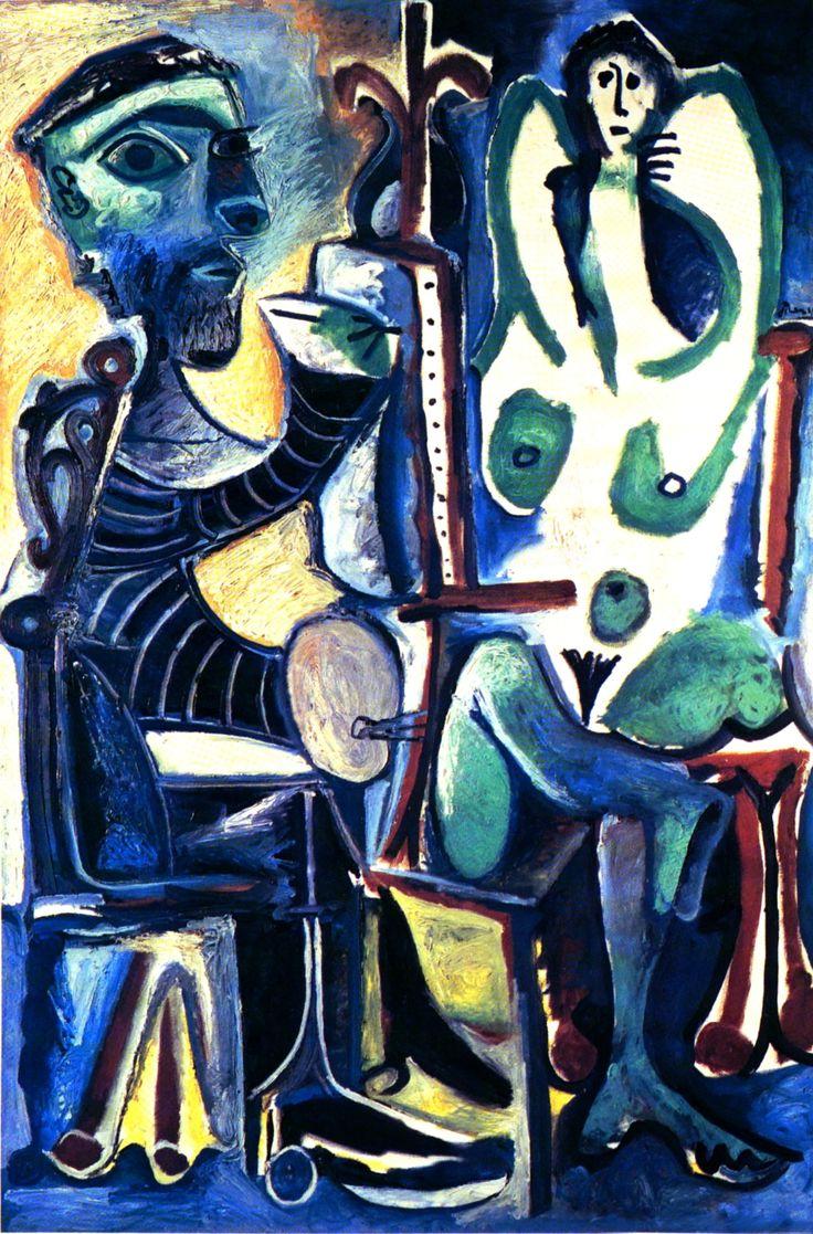 Picasso - Il Pittore e la modella - sassi di arte scelti da AnGre - https://ilsassonellostagno.wordpress.com/2015/07/21/pablo-picasso-il-pittore-e-la-modella-sassi-di-arte-scelti-da-angre/