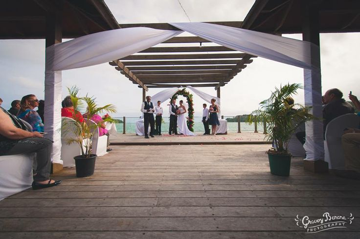 The Beach Wooden Deck at Warwick Le Lagon Vanuatu is one of a kind in Port Vila. With room to seat up to 200 guests and views right across the lagoon and outwards to the ocean and Erakor Island its a charming and classy venue. Another one of our faves!