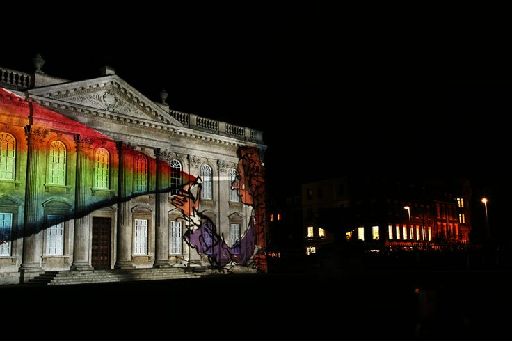 800th Anniversary light show | Copyright University of Cambridge