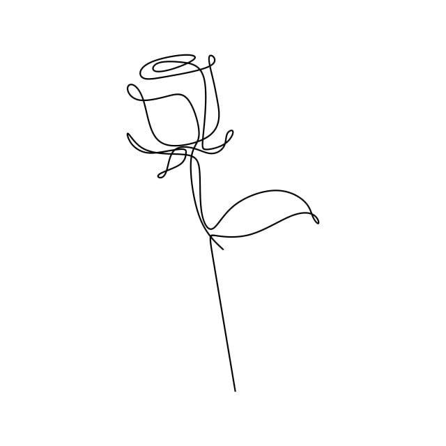 Desenho Continuo De Uma Rosa Rosas Clipart Rosa Ame Imagem Png E Vetor Para Download Gratuito Line Drawing Tattoos Rose Tattoo Design Line Art Tattoos