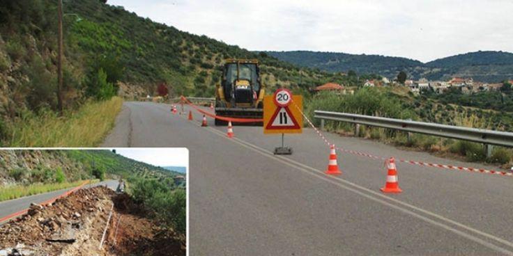 Σε εξέλιξη έργα της Περιφέρειας Δυτικής Ελλάδα σε καθίζηση του δρόμου μεταξύ Νέας Φιγαλείας και Φασκομηλιάς