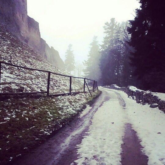 Way to Kašperk castle