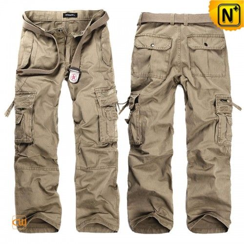 Mens Loose Fit Long Cargo Pants CW140288
