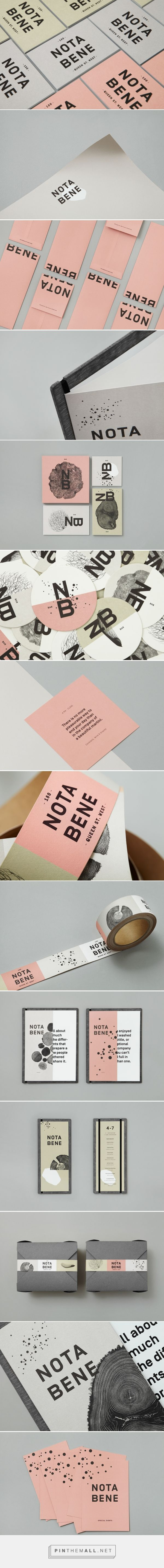 Nota Bene by Blok Design #graphicdesign #brandidentity #brandinginspiration