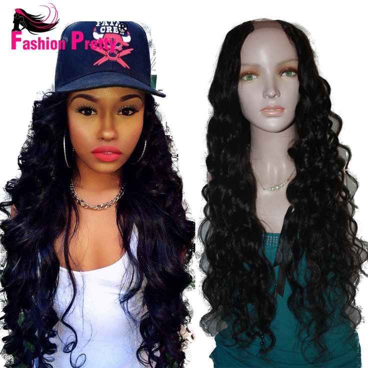 Best wavy U Part Human hair Wig Body Wavy Upart Unprocessed Brazilian Virgin Hair U Part Wig 2*4 Opening with Lace 130density