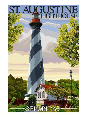 St. Augustine, Florida Lighthouse Art Print