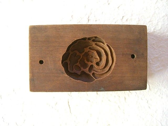 Japanese Wooden Cookie Mold
