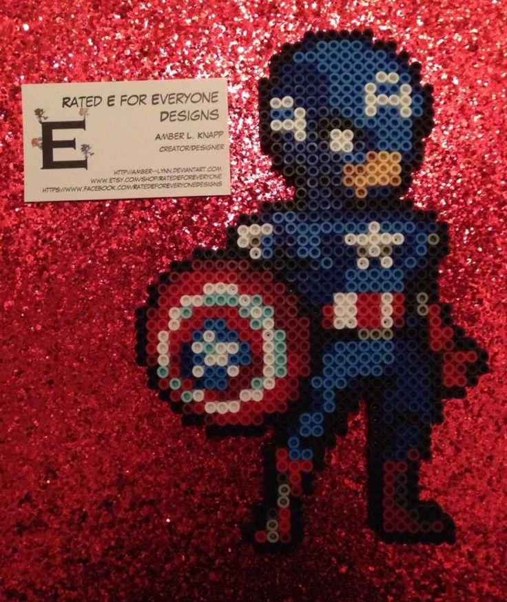http://amber--lynn.deviantart.com/art/Captain-America-Perler-Bead-Design-479127590