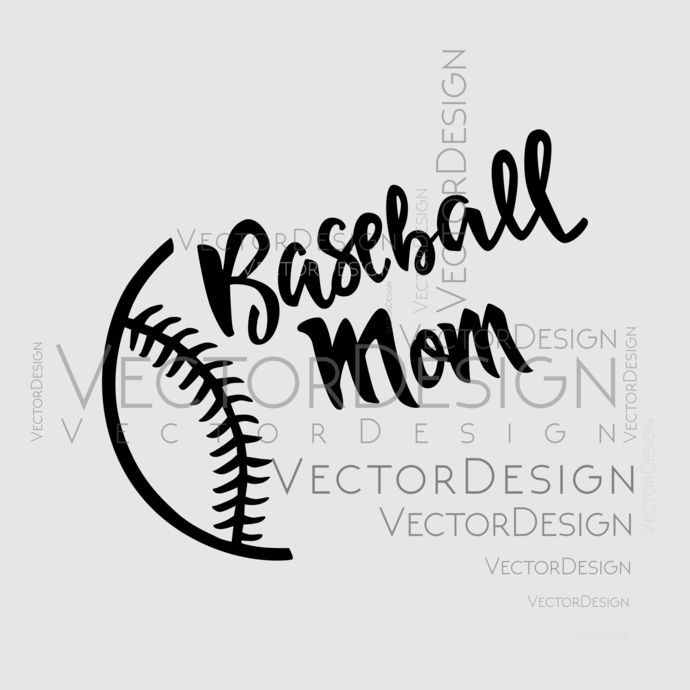 instant download mama shirt print svg   Baseball Mom SVG Cut Files commercial use printable vector clip art Baseball SVG Bundle