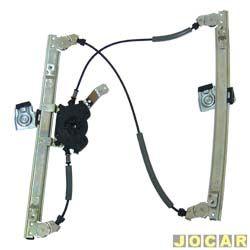 Máquina de vidro - alternativo - Gol/Parati/Saveiro - 1998 até 2008 - 4 portas - elétrica - sem motor - c/ encaixe Mabushi - lado do passageiro - dianteiro - cada (unidade)