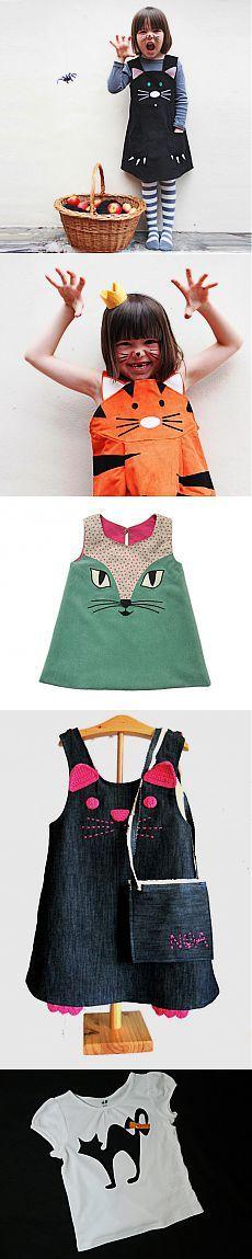 Кошачья тема в детской моде.