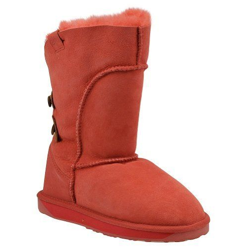 """EMU Australia Women's Alba Boot Button EMU Australia. $99.95. Removable sheepskin-lined insole. Shaft measures approximately 10"""" from arch. Molded leather heel cup. Platform measures approximately 1/2"""" . Rubber sole. Boot opening measures approximately 13 1/2"""" around. Double-stitched seams. Australian Sheepskin. Heel measures approximately 1"""""""