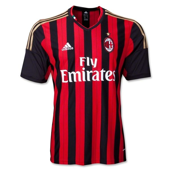 AC Milan 13/14 Home Soccer Jersey