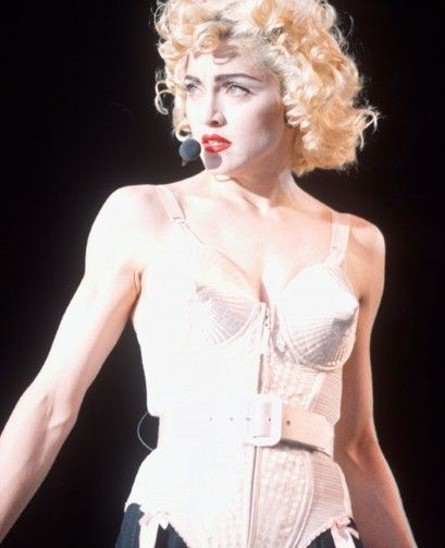 Jean Paul Gaultier's 'rocket cone' corsetry was originally designed for Madonna's 'Blonde Ambition' world tour of 1990.