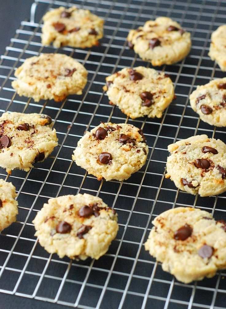 Low Carb Chocolate Chip Cookies - these cookies are grain free, sugar free and deliciously low carb friendly.