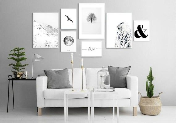 Set Of 7 Wall Art Prints Scandinavian Posters Living Room Etsy Home Decor Gallery Wall Design Wall Design