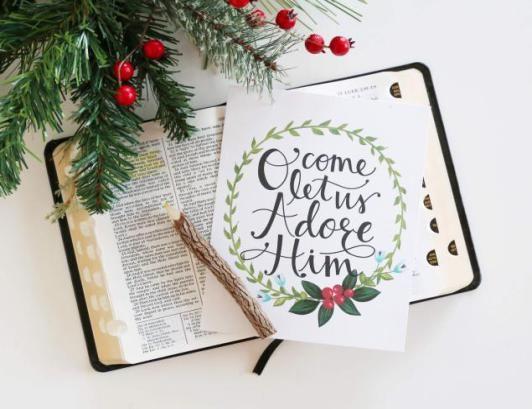 oh come let us adore him print free christmas printable