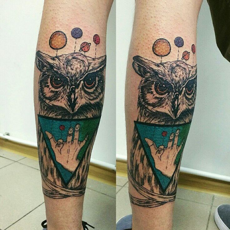 Www.facebook.com/SimonaSokolova.ART Young tattoo artist, owl tattoo, planets, puppets, triangle, illuminati, bones, crazy design, weird art #SimonaSokolova