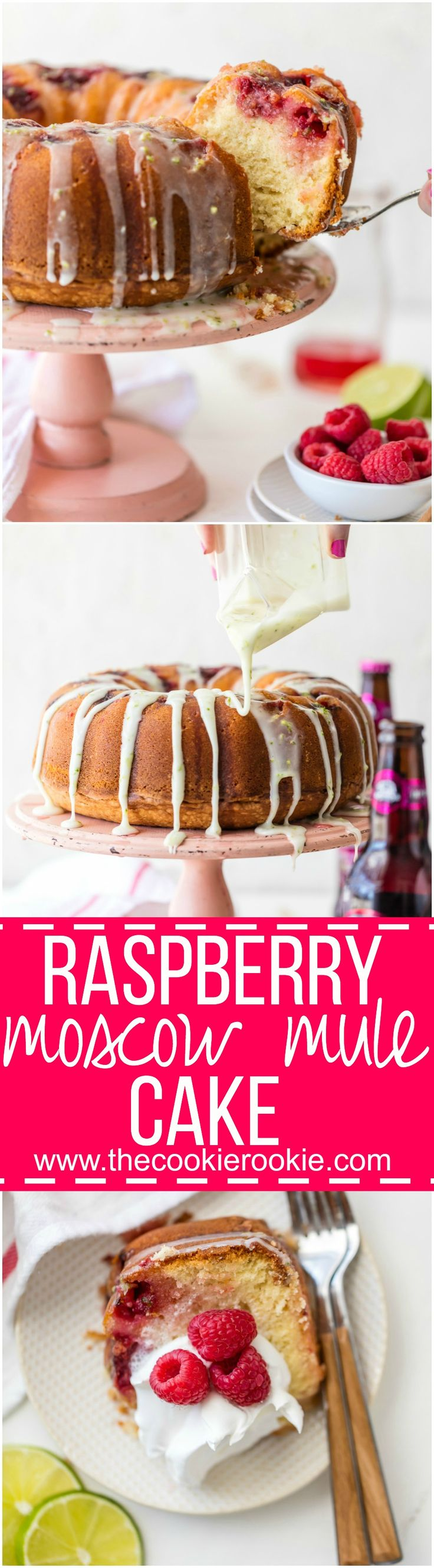 This RASPBERRY MOSCOW MULE CAKE makes life a little bit sweeter! Made with fresh…