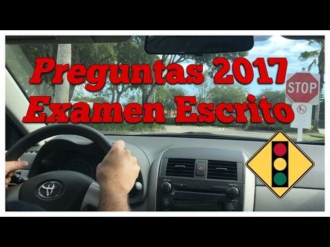 PREGUNTAS Y RESPUESTAS DEL EXAMEN DE MANEJO PARA HISPANOS 2017 | Examen para licencia de conducir - YouTube