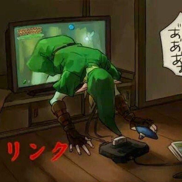 "Legend of Zelda/Ring mash-up. Ha, geddit? ""Ring,"" ""Link""? Katakana is so stupid but so funny at the same time."