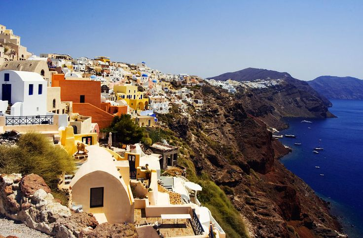 The caldera of Santorini