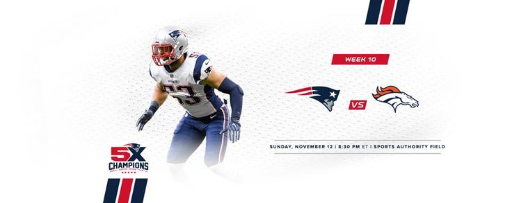 Next up Sunday 11/12 8:30pm Sports Authority Field #GoPats