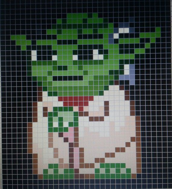 Star Wars Quilt Pattern | Amazing Star Wars Master Yoda Quilt by SheIsSewVegan on Etsy, $300.00