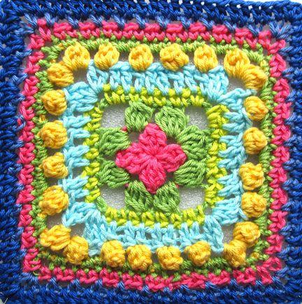 Planet Penny Beautiful Blogger Blanket Square #crochet pattern