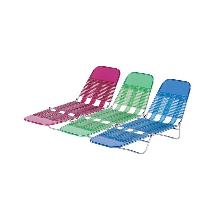 Plastic Tri Fold Beach Lounge Chair