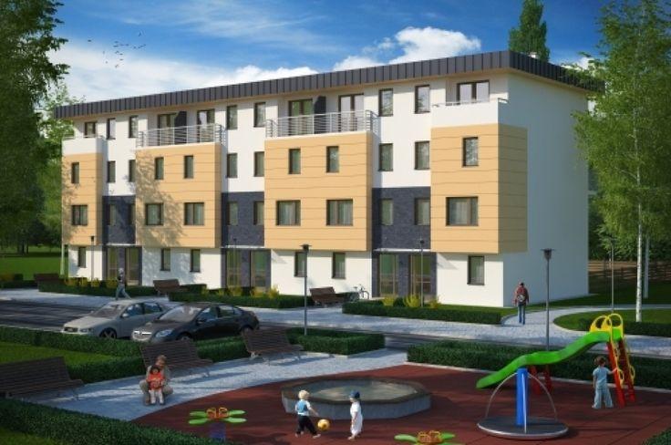 Projekt sześciu budynków jednorodzinnych dwulokalowych w zabudowie szeregowej