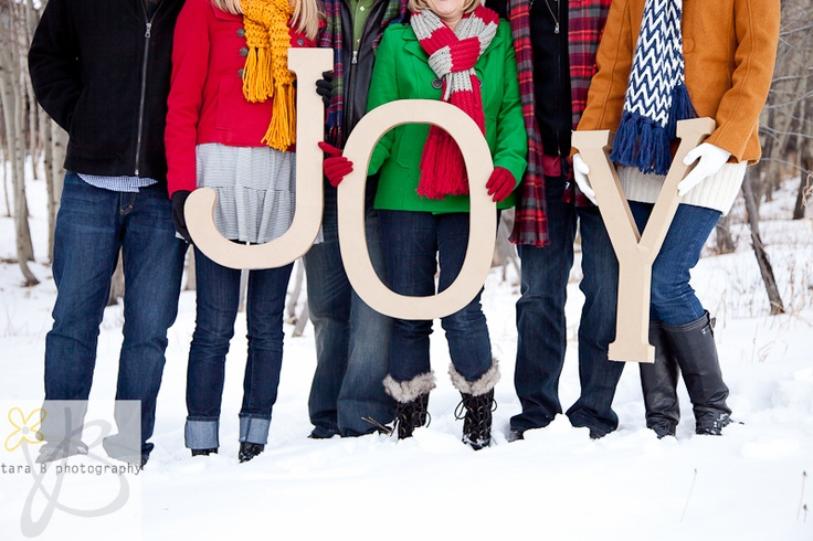 find letters at local craft store Family Christmas Picture