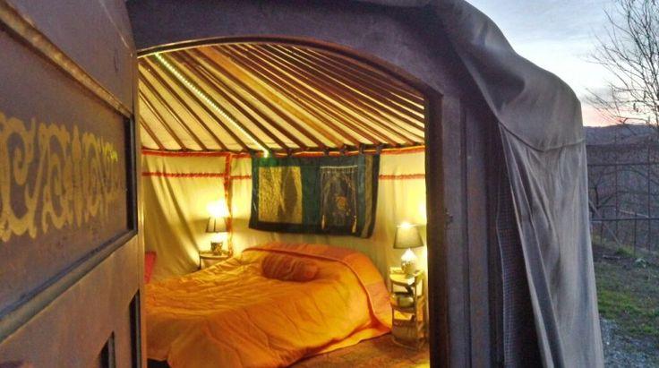 Sleep in an original Mongolian tent in #Italy  Yurta Soul Shelter – Green Camping in Gassino Torinese, Torino, Piemonte, IT