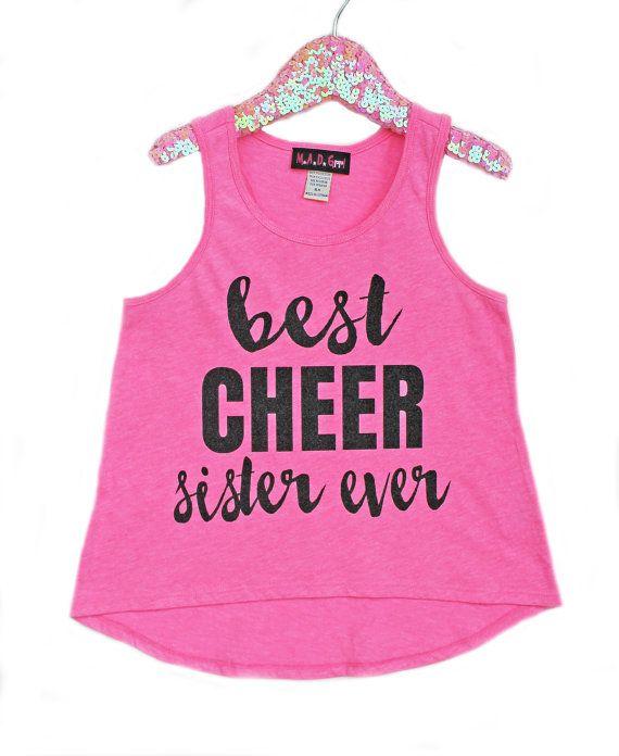 Best Sister Ever Shirt Girls Sparkle Shirt Girls Cheer by madgrrl